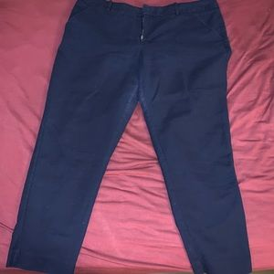 Navy blue ankle pants